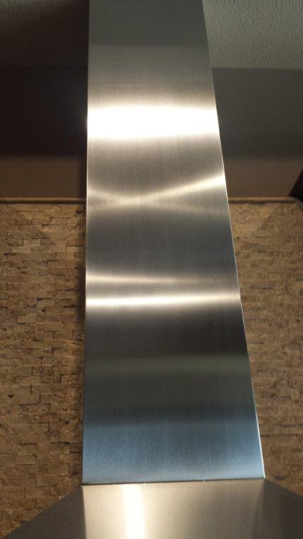 Refinished high end stainless steel flue.