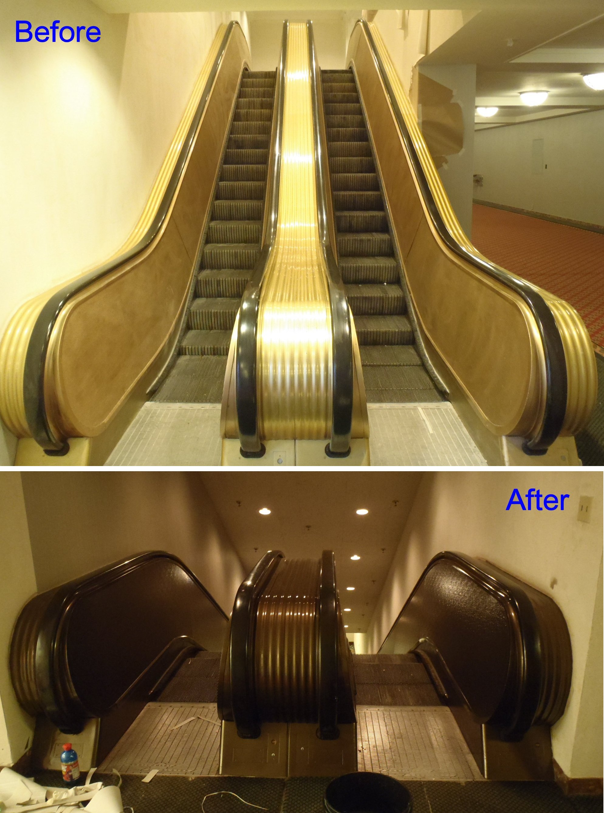 escalator patina