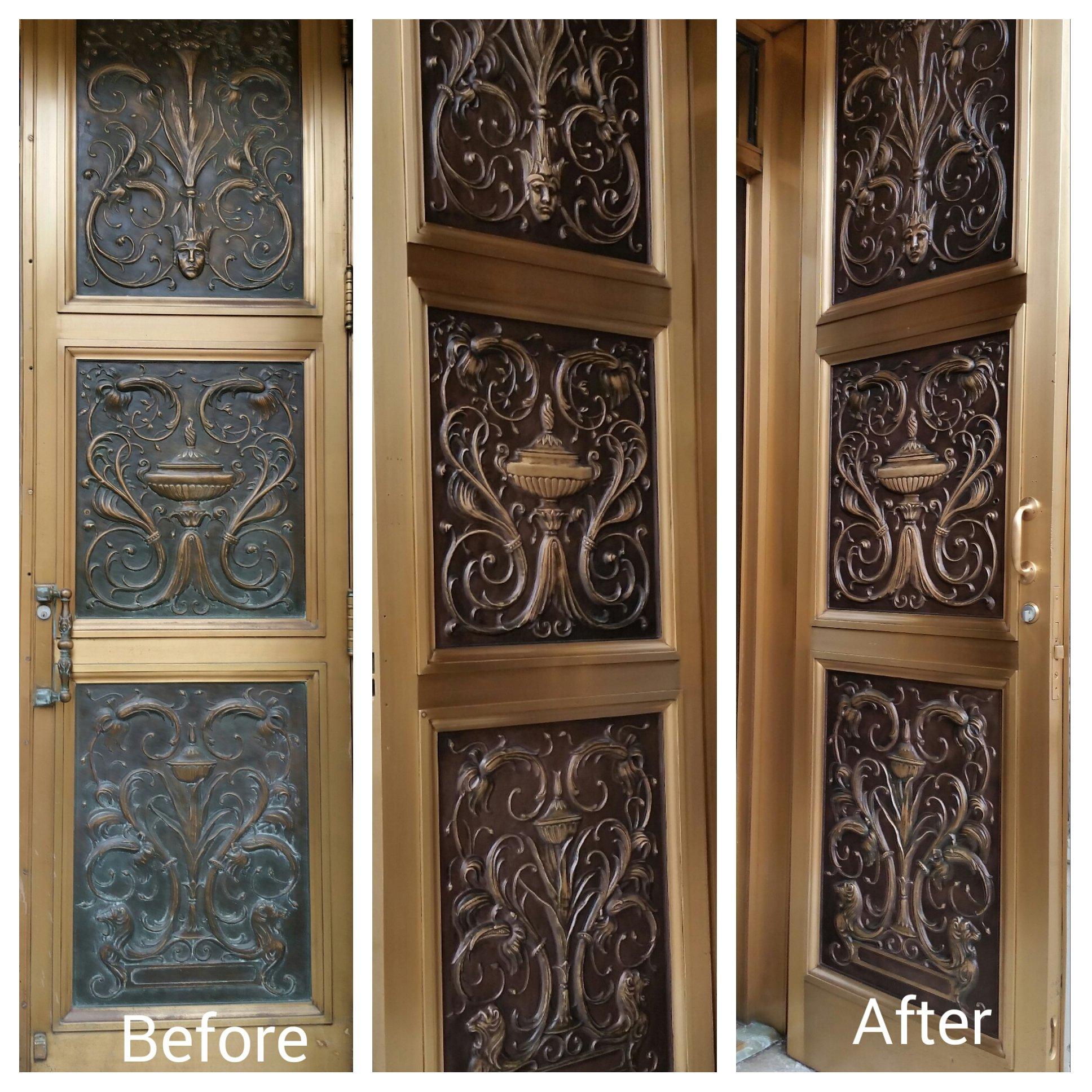 Decorative door panels & Ornate decorative doors in the Deramus Building