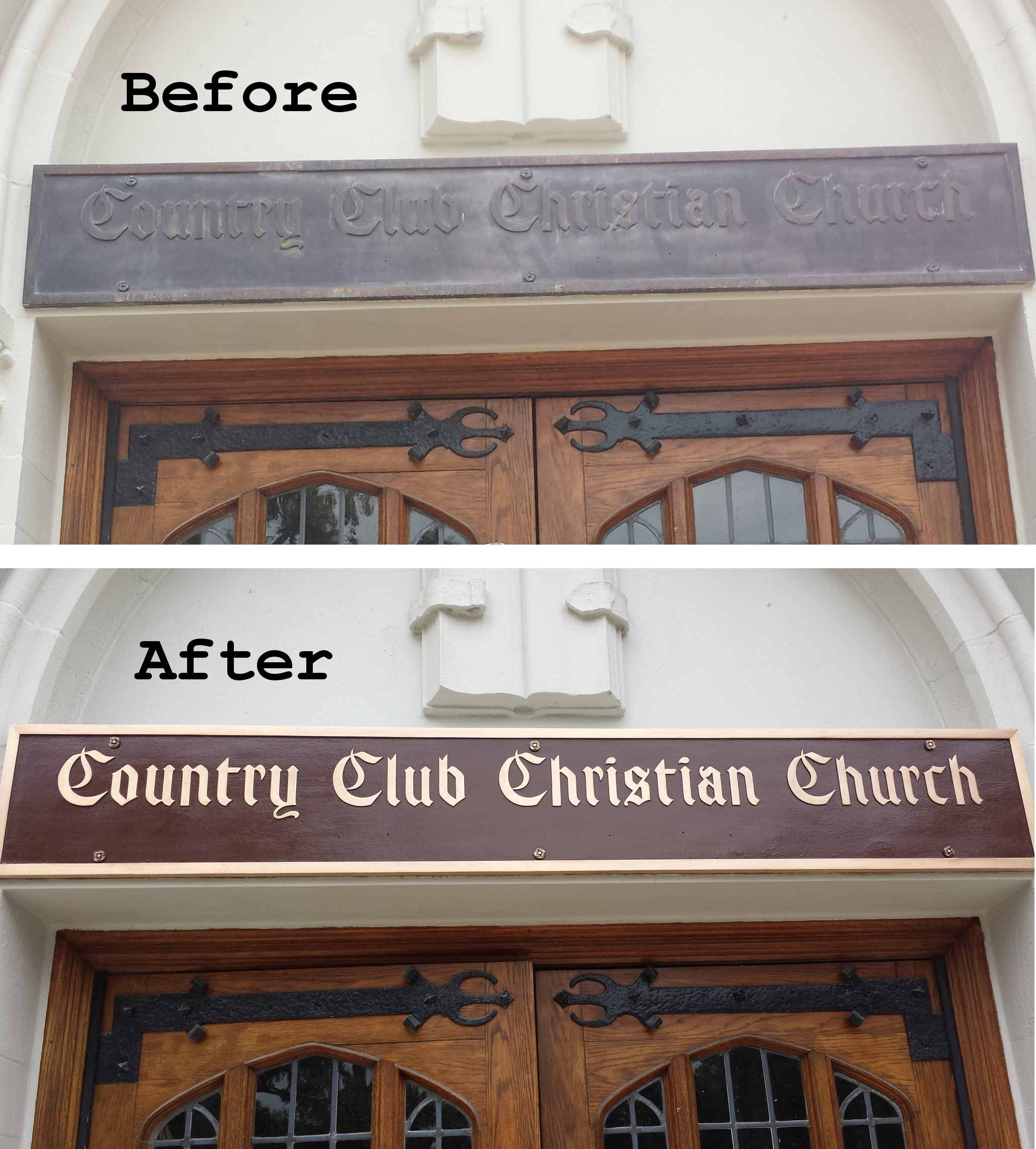 Sign restoration