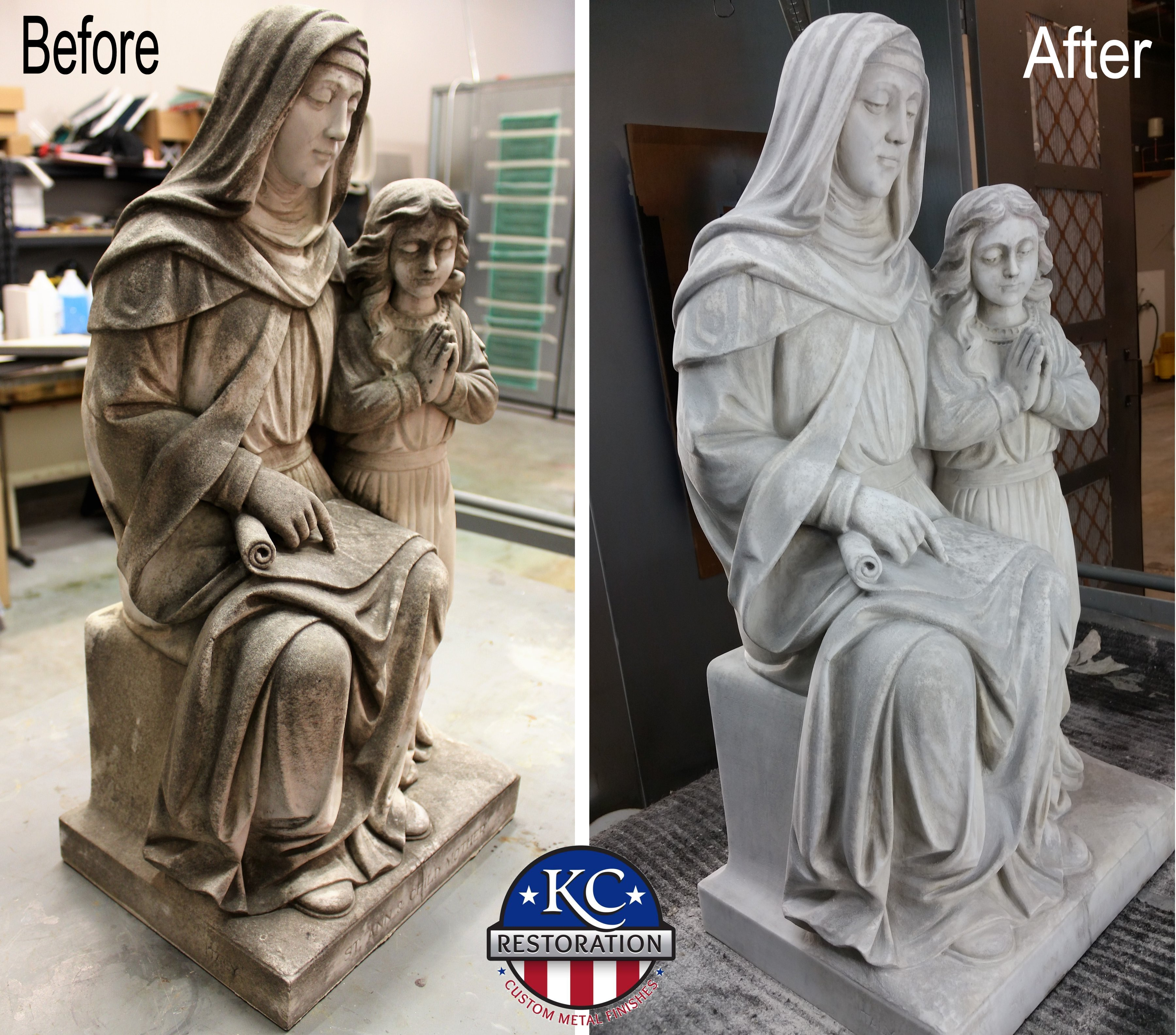 Marble statue restoration