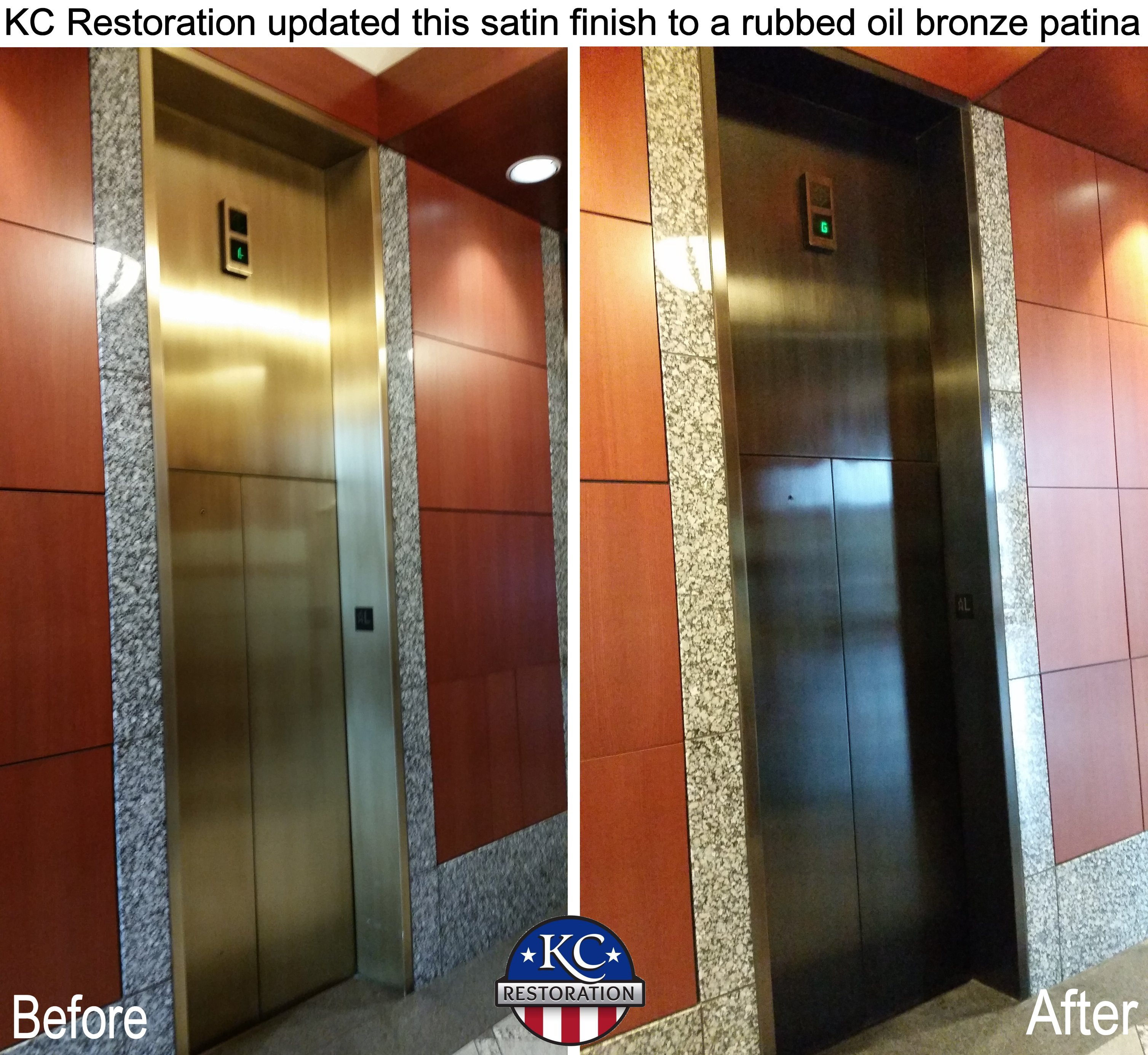 Elevator before and after