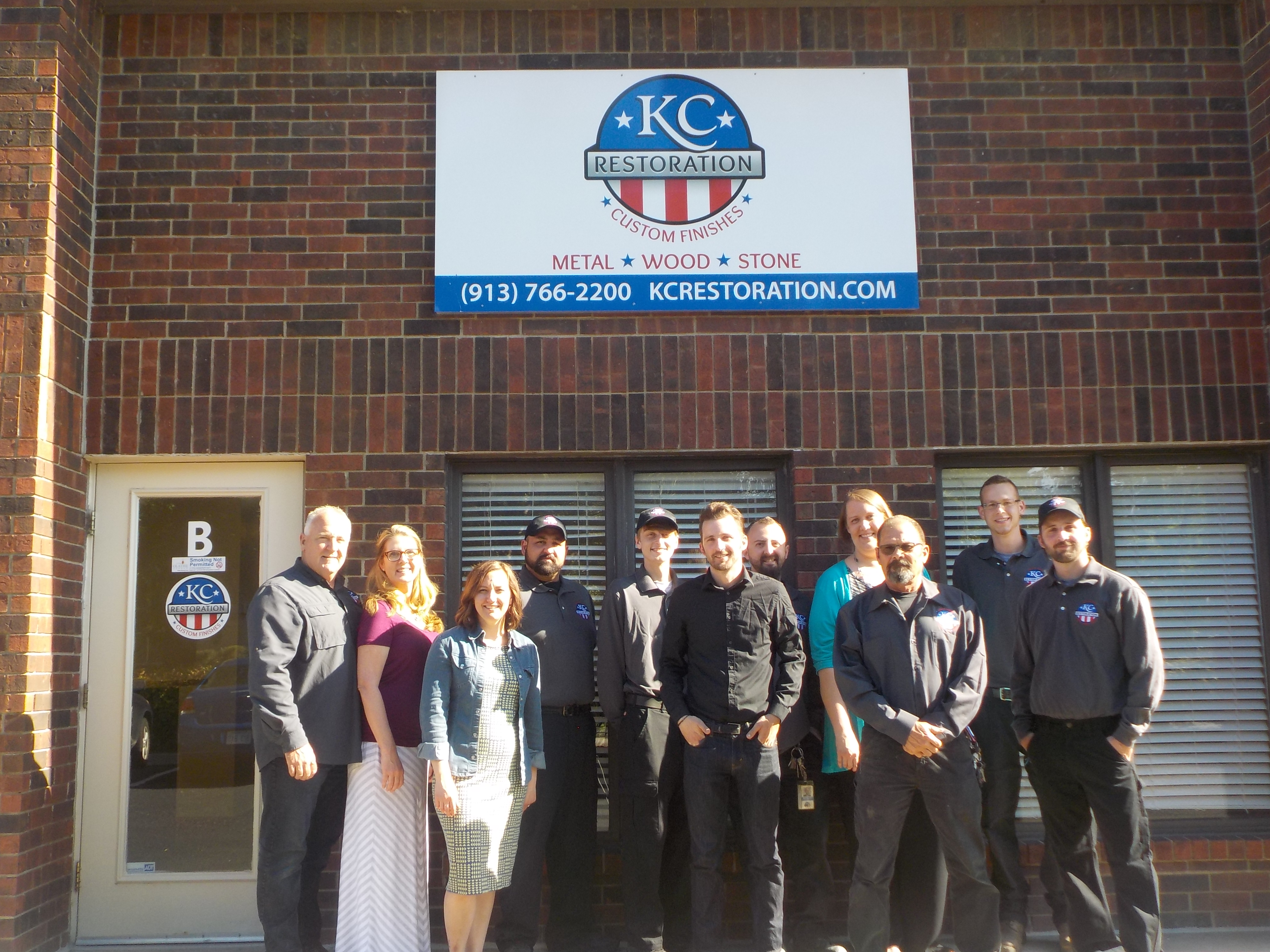 KC Restoration's team at our new location