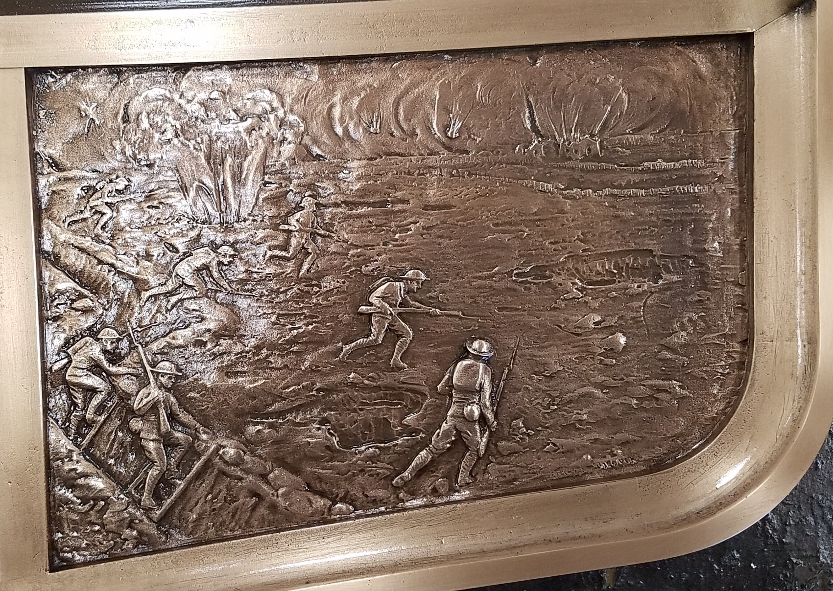 World War I plaque restoration