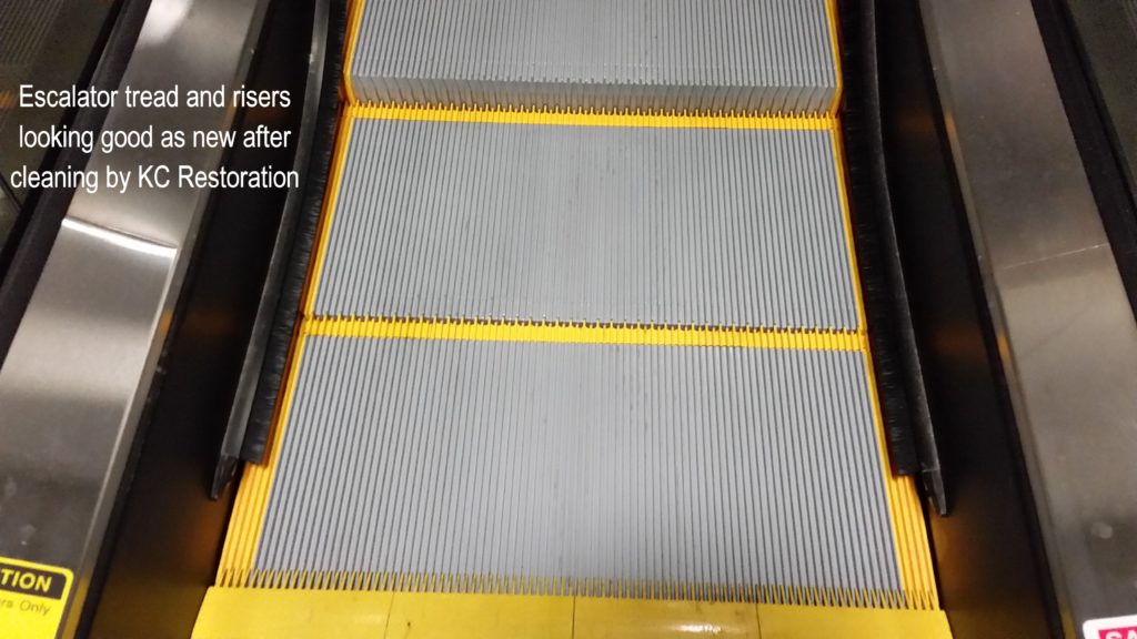 Escalator cleaning by KC Restoration