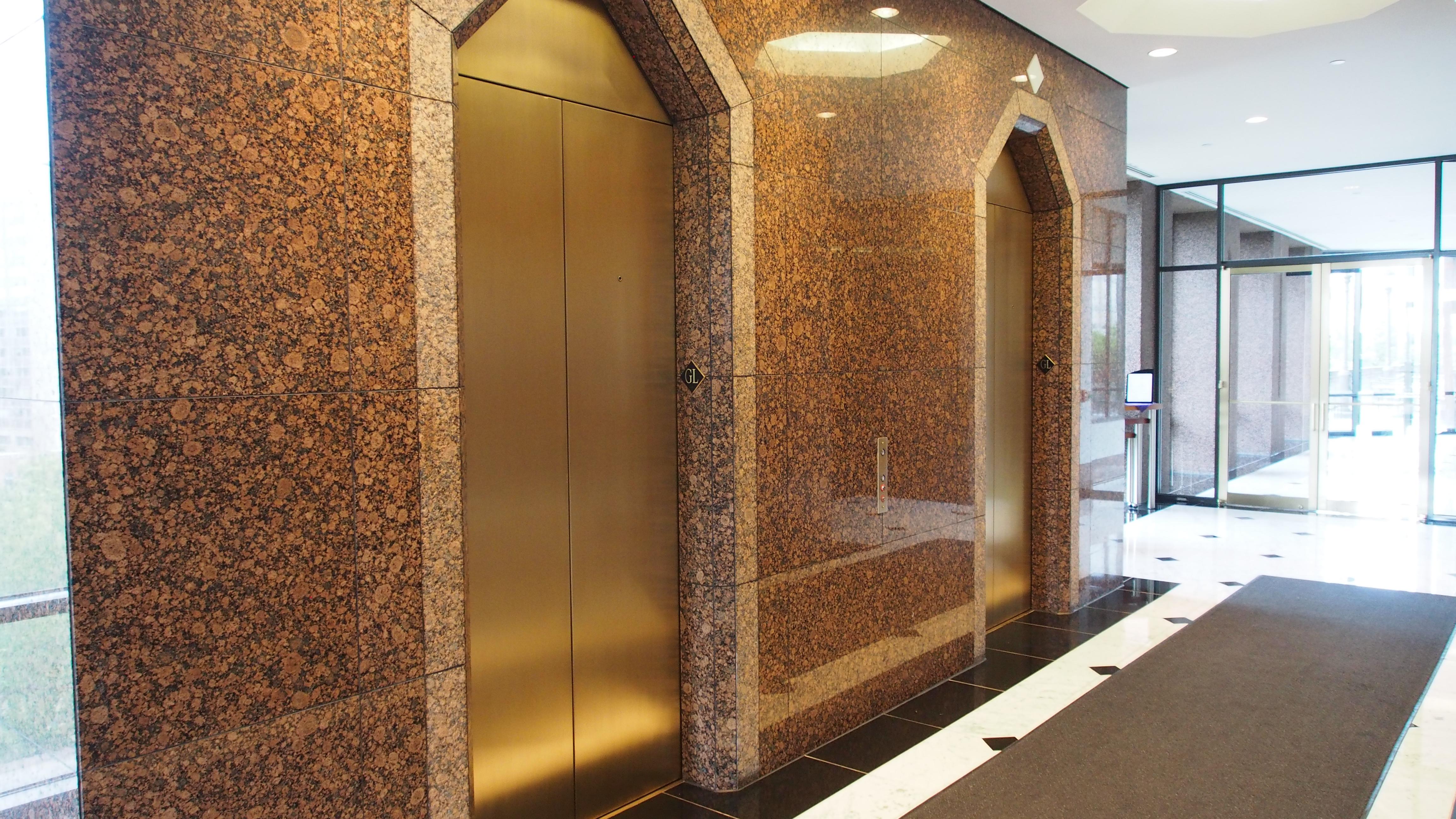 Bronze elevator entrances