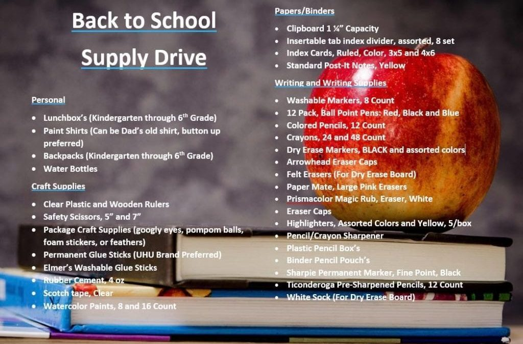 KC Restoration's School Supply Countdown
