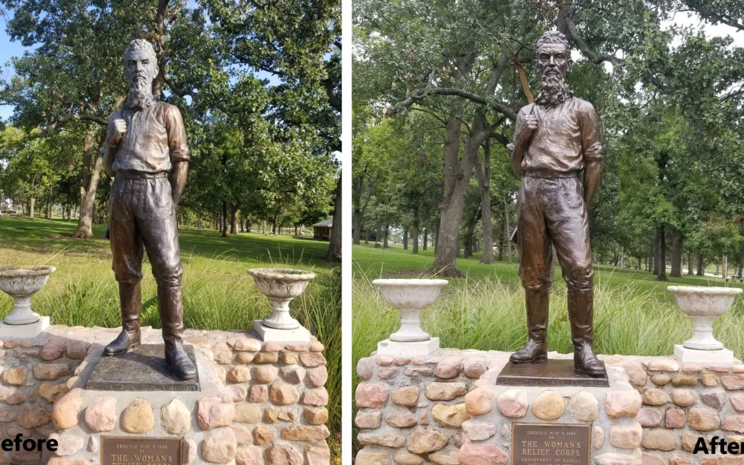 John Brown statue in Osawatomie