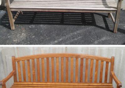 KC Restoration wood bench refinish